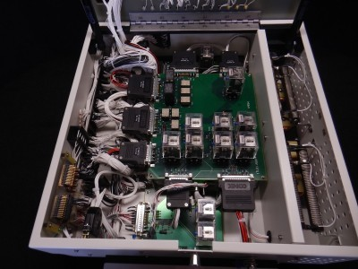 Internal wiring and Circuit Card Assemblies (CCAs) of functional test fixture