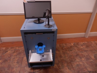 Product warranty-screening test station with internal anechoic chamber